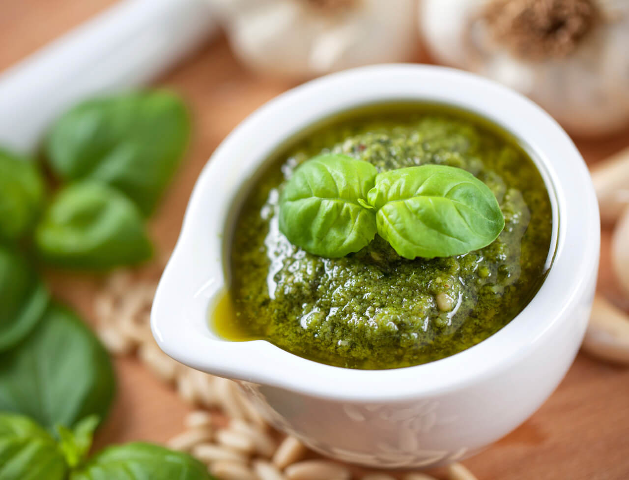 The original pesto recipe, the basil sauce loved by Sinatra